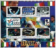 MODERN GEMS - Sierra Leone - UEFA Euro 2000 Italy - Sheet of 6 - MNH