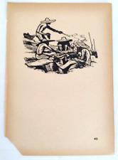 """Chinese Woodcut Print """"Stone Masons"""" Chinese  Woodcuts (1937-1945) Best Deal"""