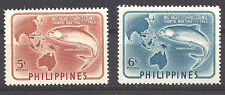 PHILIPPINES ,1952 , MILKFISH & MAP , SET OF 2 ,  PERF,  VLH
