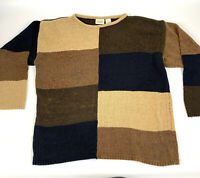 Vintage Classic Elements Womens Color Block Sweater Size Large