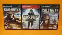 Call of Duty 2 Big Red One, World War, Finest Hour PS2 PlayStation 2 3 Game Lot