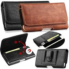For Mobile Cell Phones + Hybrid Case PU Leather Magnetic Cover Belt Loop Pouch