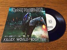 "Iron Maiden: Charlotte The Harlot / Innocent Exile 7"" BLUE Vinyl Single Record"