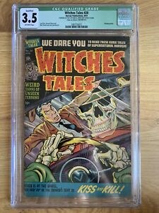 WITCHES TALES #20 ==> CGC 3.5 QUALIFIED 1953 INSANE SKULL COVER - incomplete