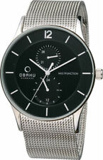 Obaku TORDEN - Onyx Men's Watch Stainless Multi-Function White Dial V157GMCBMC