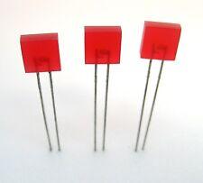 Square Leds Red 3lot