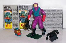 1988 G.I. JOE TOXO-VIPER • C8-9 • COBRA HOSTILE ENVIRONMENT TROOPER