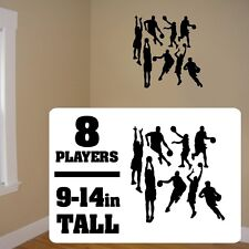 Basketball players sticker, Bball vinyl wall stickers, Hoops players vinyl decal