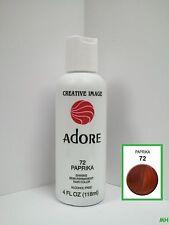 CREATIVE IMAGE ADORE SEMI PERMANENT HAIR COLOR #72 PAPRIKA 4oz
