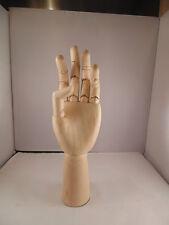 "12"" (300mm) ARTISTS WOODEN LEFT HAND MANIKIN MANNEQUIN - RRP £29.99"