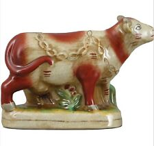New Staffordshire Reproduction  Cow Figurine