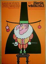 Polish poster by Jerzy Flisak Ives Montand Louis de Funes