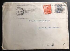 1951 Barcelona Spain Cover To Esteban Marcos Vatican Via Rome Italy