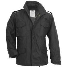 Cappotti e giacche da uomo neri Militare con Cerniera