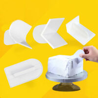 Cake Mold Smoother Polisher Tools Cutter Decor Fondant Sugarcraft Icing Mould