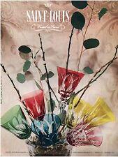 ▬► PUBLICITE ADVERTISING AD Cristal SAINT LOUIS Photo Martin 1957