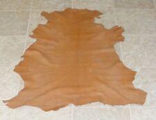 (Gbe7820) Hide of Orange Brown Lambskin Leather Hide Skin