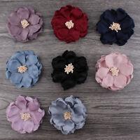 50pcs 8cm Cloth Felt Flower For Baby Hair Accessories Handmade Fabric Flowers
