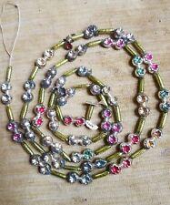 "New listing Vintage Christmas Fancy Multi Colored Mercury Glass Bead Garland Japan 57"""
