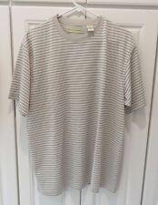 MUNSINGWEAR Men's Short sleeve Multi-Color Striped Shirt size L