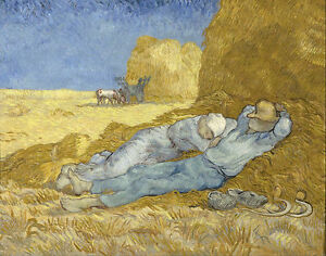 Vincent van Gogh - The siesta after Mille Painitng Canvas Print wall home Decor