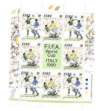 IRELAND Sc 799-800 NH ISSUE of 1990 SPORTS FIFA Soccer Futbol Italy