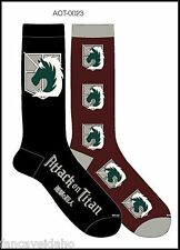 Anime Attack on Titan Military Police Toys Unisex 2 Pair Crew Cut Socks Cosplay