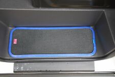 FORD TRANSIT 2007 ON RUBBER CAB STEP MATS WITH BLUE PVC CONTRAST EDGING