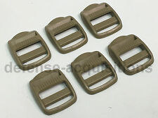 "SET OF 6 ITW NEXUS 1"" TLL 100 ITW Nexus Trovato Ladderlock Tension Buckle TAN"