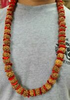Rudraksha big beads Mala garland 54 Plus 1 Beads USA Seller