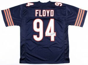 Leonard Floyd Signed Bears Jersey JSA /Chicago's #1 Draft Pick 2016 U.of Georgia
