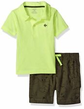 Carter's Infant Boys 2pc Yellow T-Shirt & Gray Shorts Set Size 3M NWT