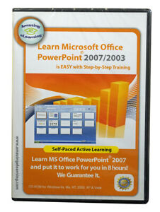 Learn Microsoft Office PowerPoint 2007/2003~ self paced step by step learning CD