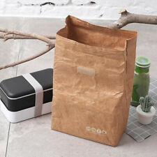 6L New Container Picnic Reusable Durable Kraft Paper Insulated Thermal Lunch Bag