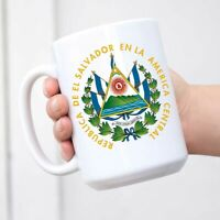 El Salvador Coat Of Arms Funny Cup White Ceramic Coffee Mug Tea Cup Fun Novelty