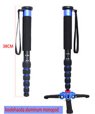 Portable 63-inch Aluminium Monopod with Folding Three Feet Support Stand (blue)