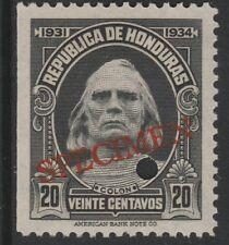 Honduras (1381) - 1931 Columbus 20c FILE COPY SPECIMEN unmounted mint