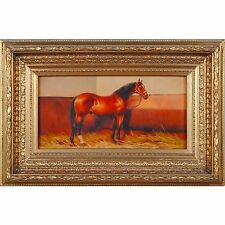 FTN030-ANI009-2, Niagara Furniture, Horse in Stable Oil Painting, Oil Paintings