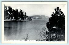 RPPC  COEUR d'ALENE, Idaho ID  View of BEAUTIFUL LAKE 1948  Postcard