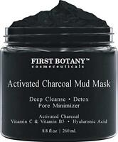 Activated Charcoal Mud Mask Reduce Wrinkle Acne Scars Exfoliation Anti Cellulite