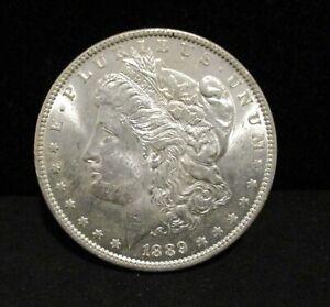 1889 Morgan Silver Dollar - UNC. - Vam 19 A! Bar Wing!     ENN COINS