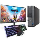 "Quad Core I5 Gaming Pc Dell Computer Bundle 8gb 500gb Gt710 Wifi 22"" Lcd Set"