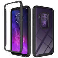 For Motorola One Zoom Case Full-Body Clear Back Hybrid Shockproof Phone Cover