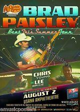 "BRAD PAISLEY / CHRIS YOUNG ""BEAT THIS SUMMER TOUR 2013"" SALT LAKE CONCERT POSTER"