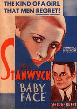 Baby Face Original Movie Herald from the 1933 Movie