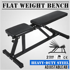 Adjustable Folding Sit Up AB Incline Abs Bench Flat Fly Weight Workout