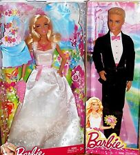 Barbie & Ken Fairytale Magic Princess Bride & Groom Wedding Dolls New