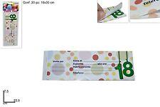 Blocchetto 20 inviti per 18 anni   7.5x22.5 cm