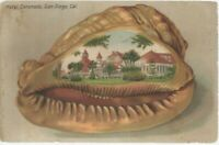 Postcard 1905c Hotel Coronado inside of Large Seashell of San Deigo, CA