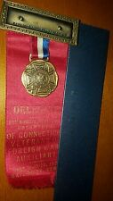1937 VFW RIBBON MEDAL Veterans of Foreign Wars WATERBURY CONNECTICUT WOW! 1937